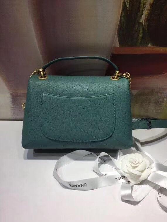 Real leather CC handbag