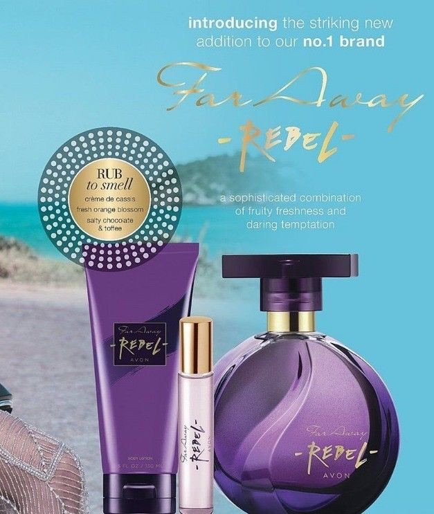 Avon far away rebel perfume set