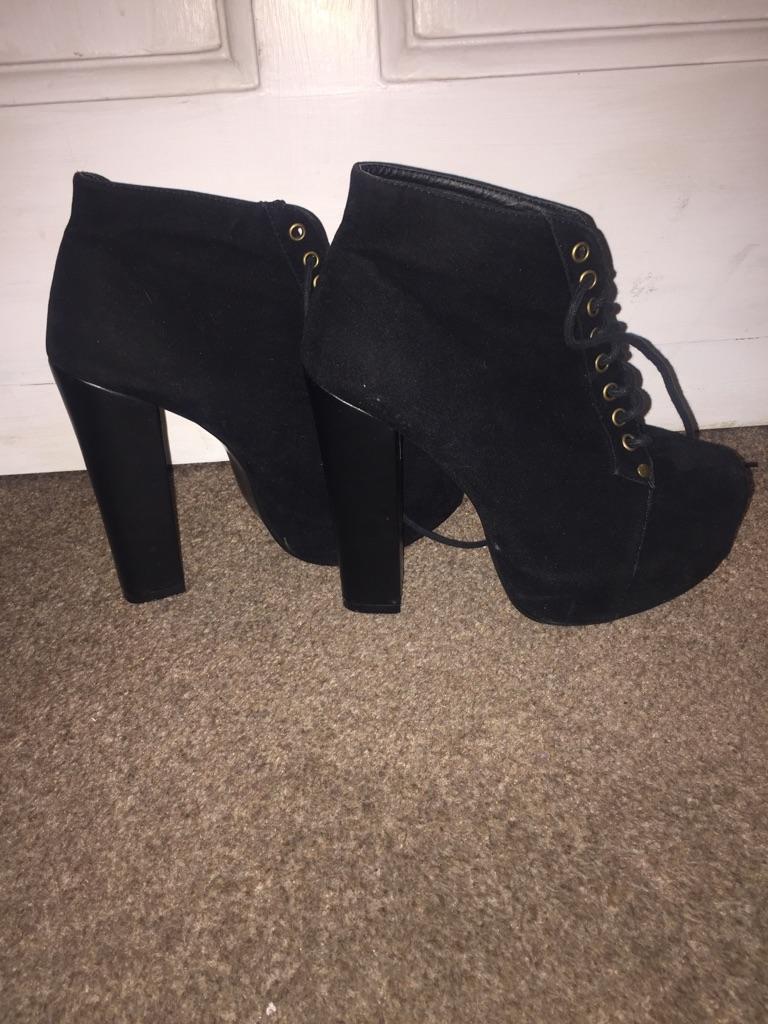 Bebo platform wedge shoe boots 6