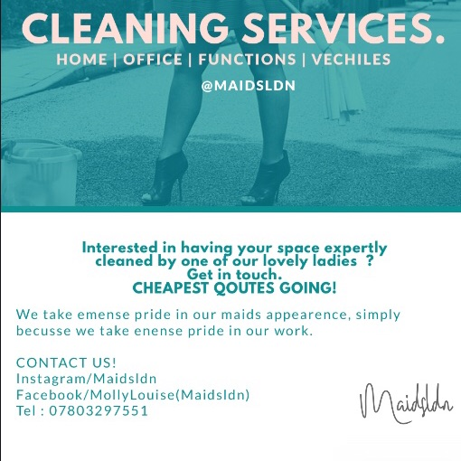 Cleaning service (Maidsldn)