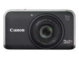 Canon PowerShot SX210 IS Digital Camera  Black