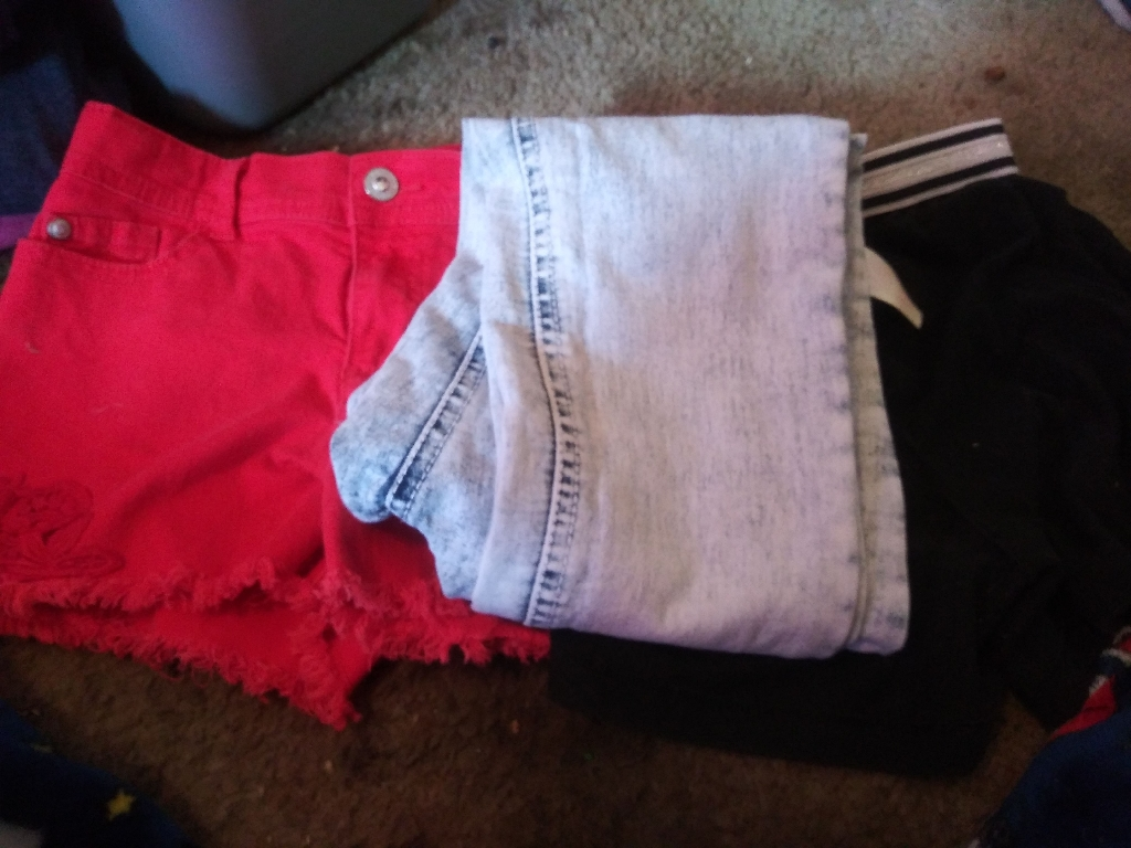 Pair of pants and shorts for kids