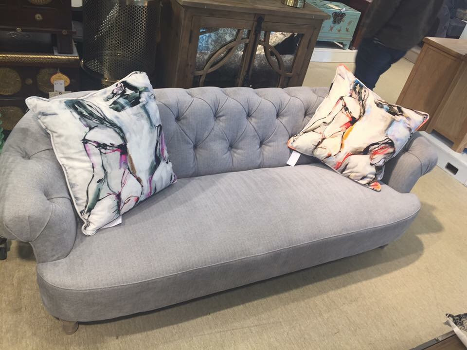 Grey Chesterfield *cushions not included*