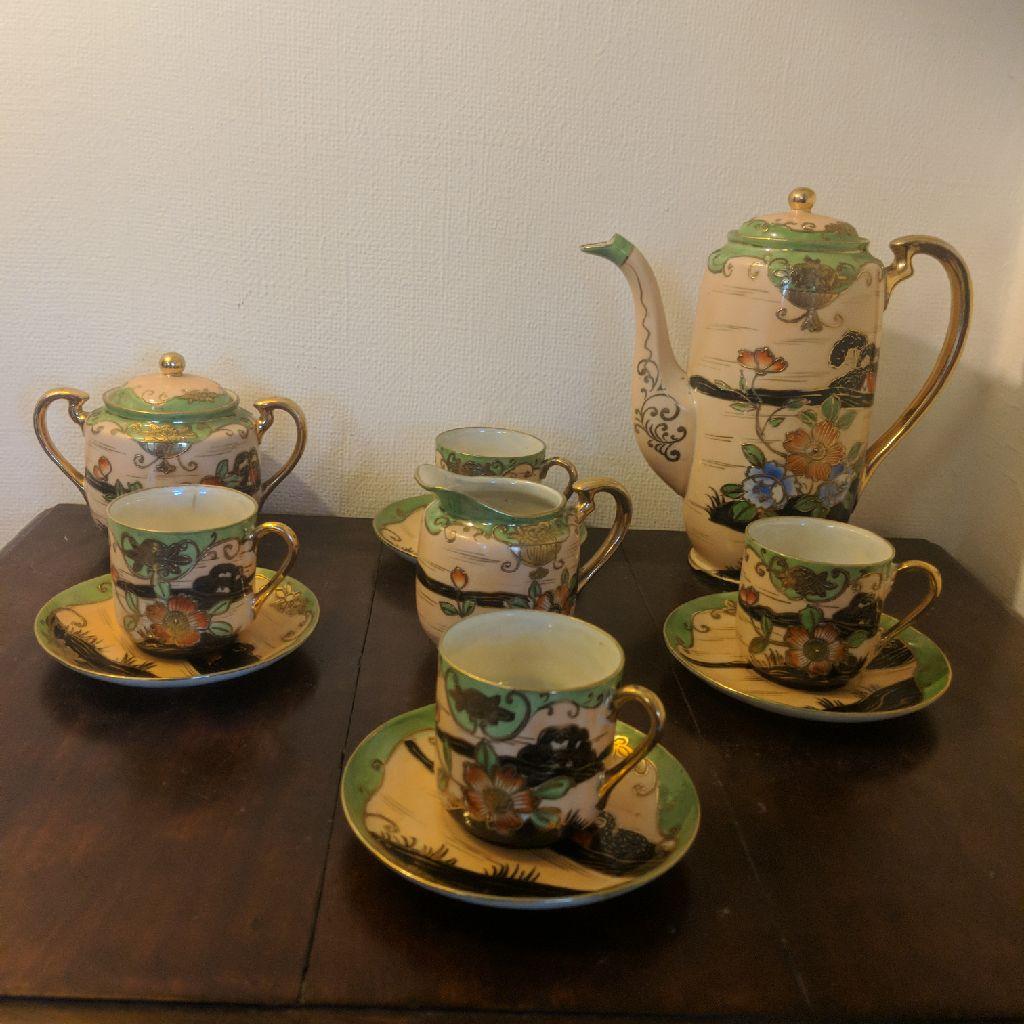 Antique japanise coffee set
