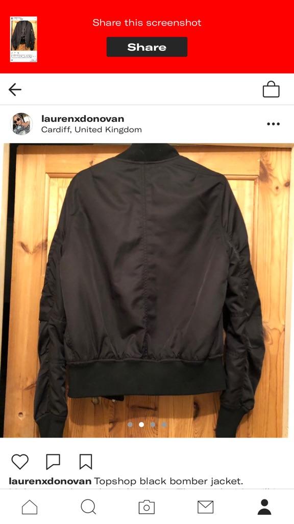 Topshop Bomber Jacket size 10.