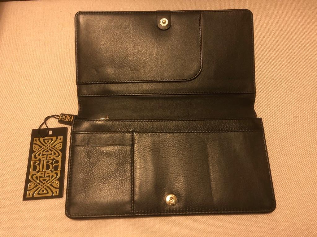 Brand new leather Biba clutch bag