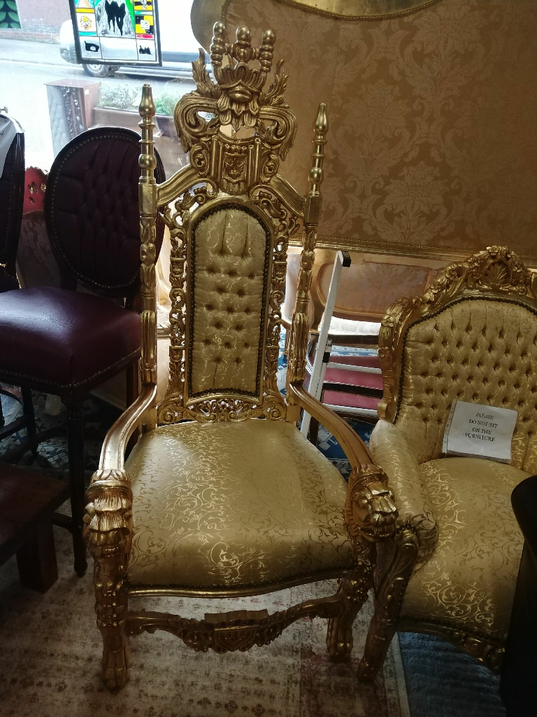 Large French Thrown Chairs