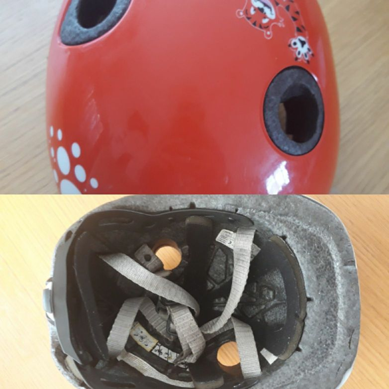 Childrens bike crash helmet