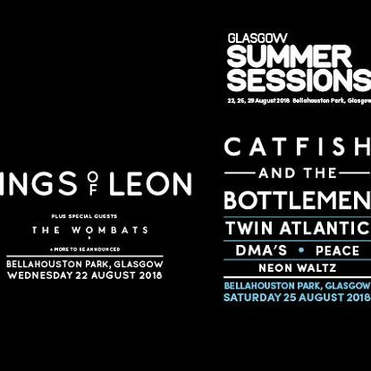 2 day Glasgow Summer Session Kings of Leon and Catfish