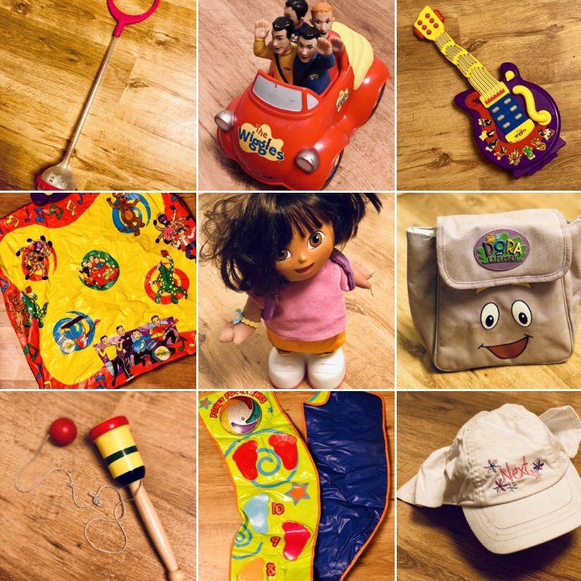 Bag of Children's Toys - Dora the Explorer, The Wiggles & More...