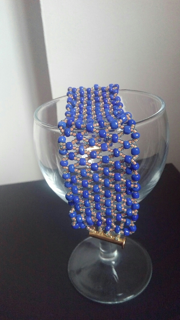 New Beaded wavey net bracelet.