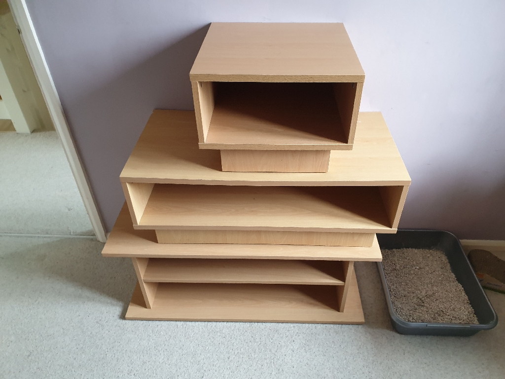 TV unit and two coffee tables