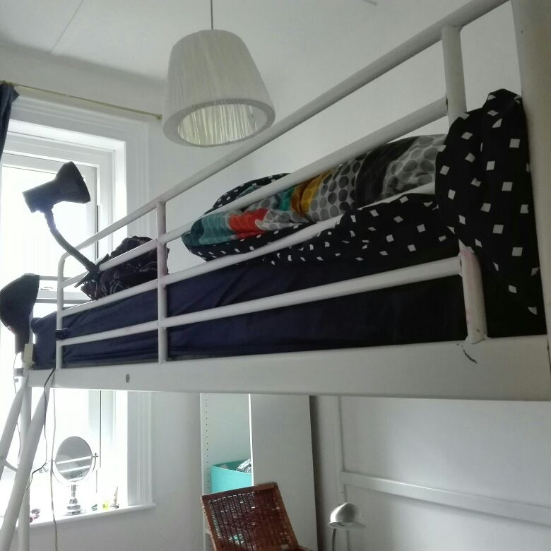Double loft bed Ikea Tromso bed with Hamarvik mattress
