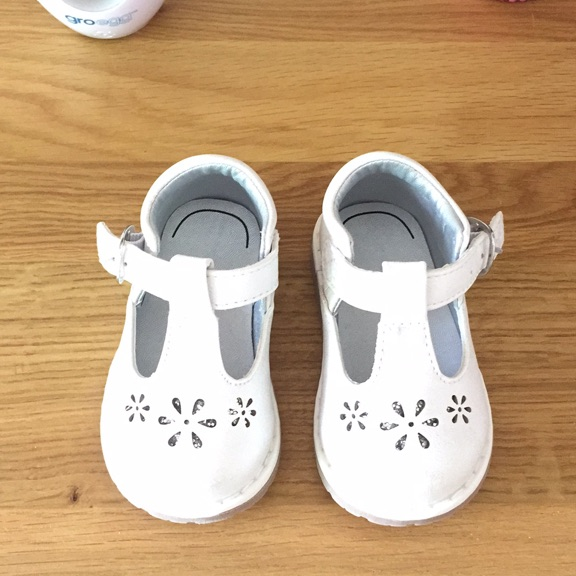 White mothercare shoes size 2 for sale
