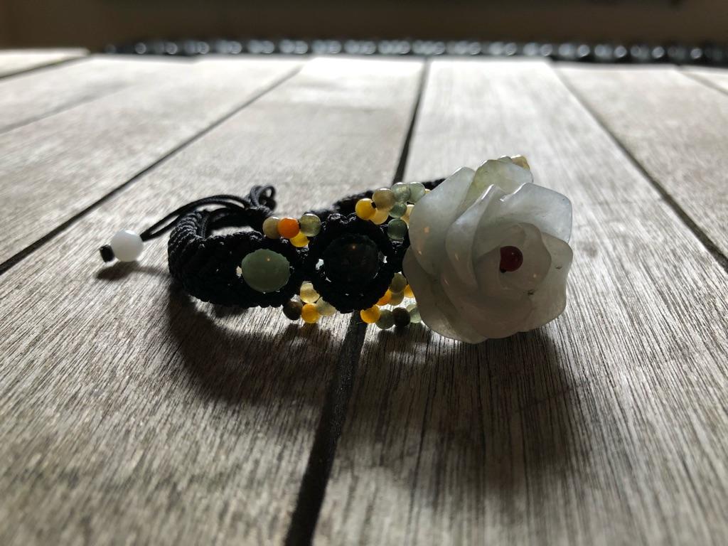 Handmade, bespoke Jade bracelet.