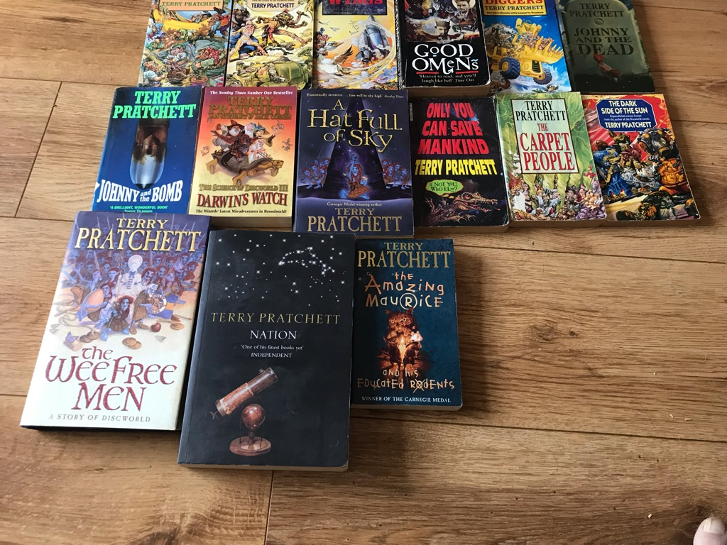 A collection of Terry Pratchett's Books