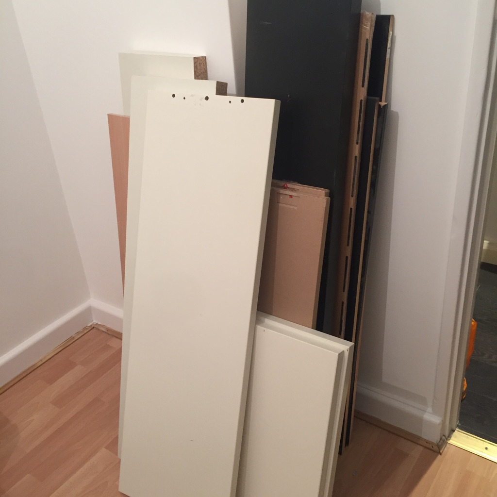Assortment of shelves and bradkets