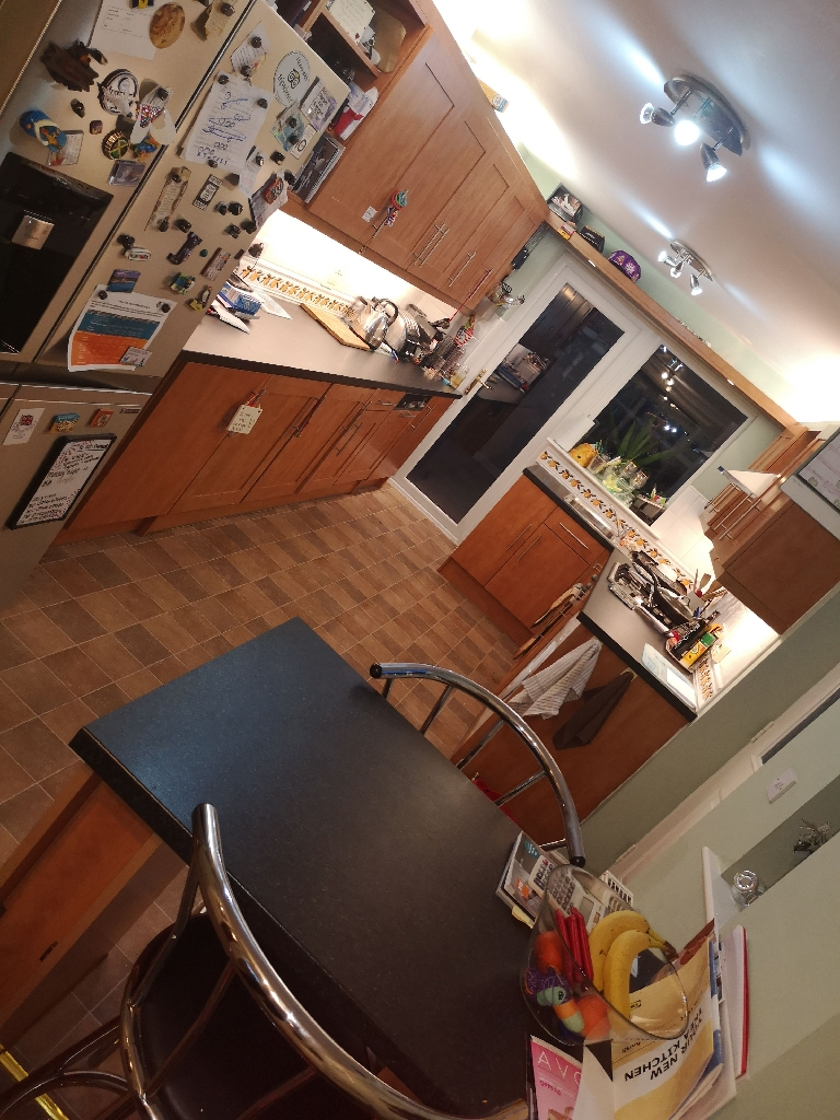 Calvados kitchen units and worktops, used.