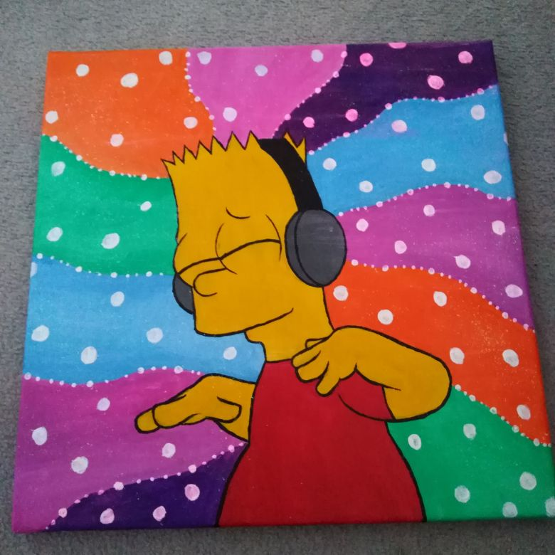 Bart Simpson painting
