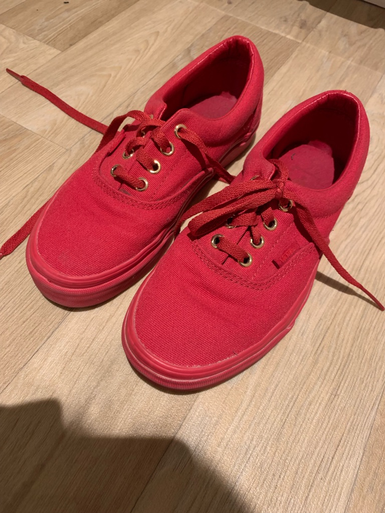 Red vans shoes size 4