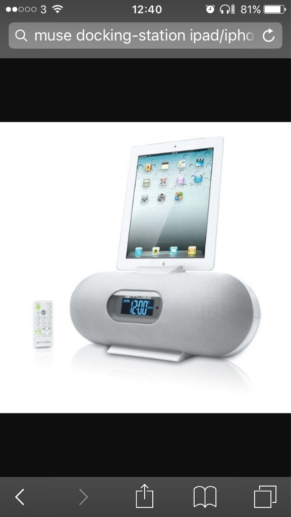 Docking clock radio for iPad/iPhone/iPod