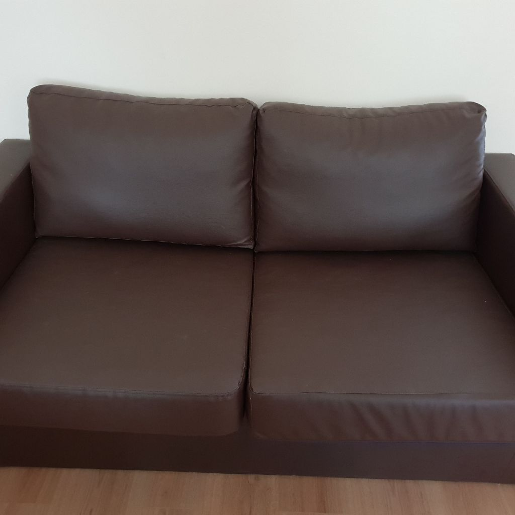 Leather brown couch
