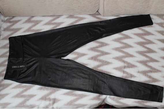 Wet look high waisted leggings (Never used size 8 and 10 with label)
