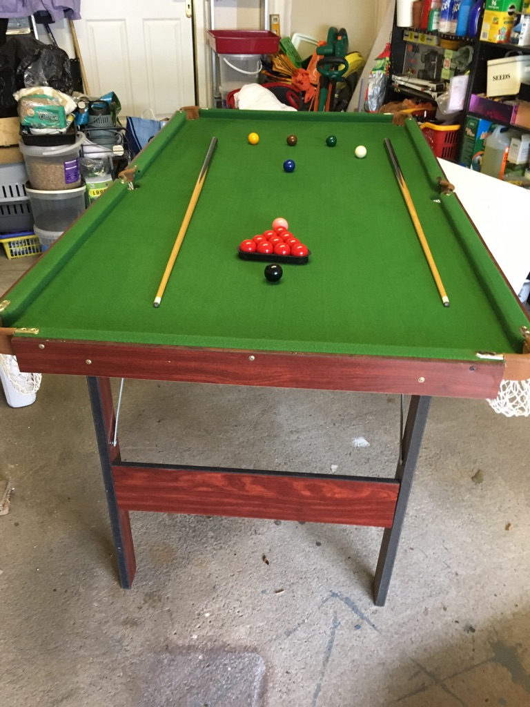 6x3 snooker table SOLD