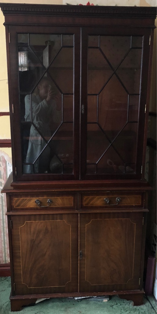 Brown solid wood cabinet