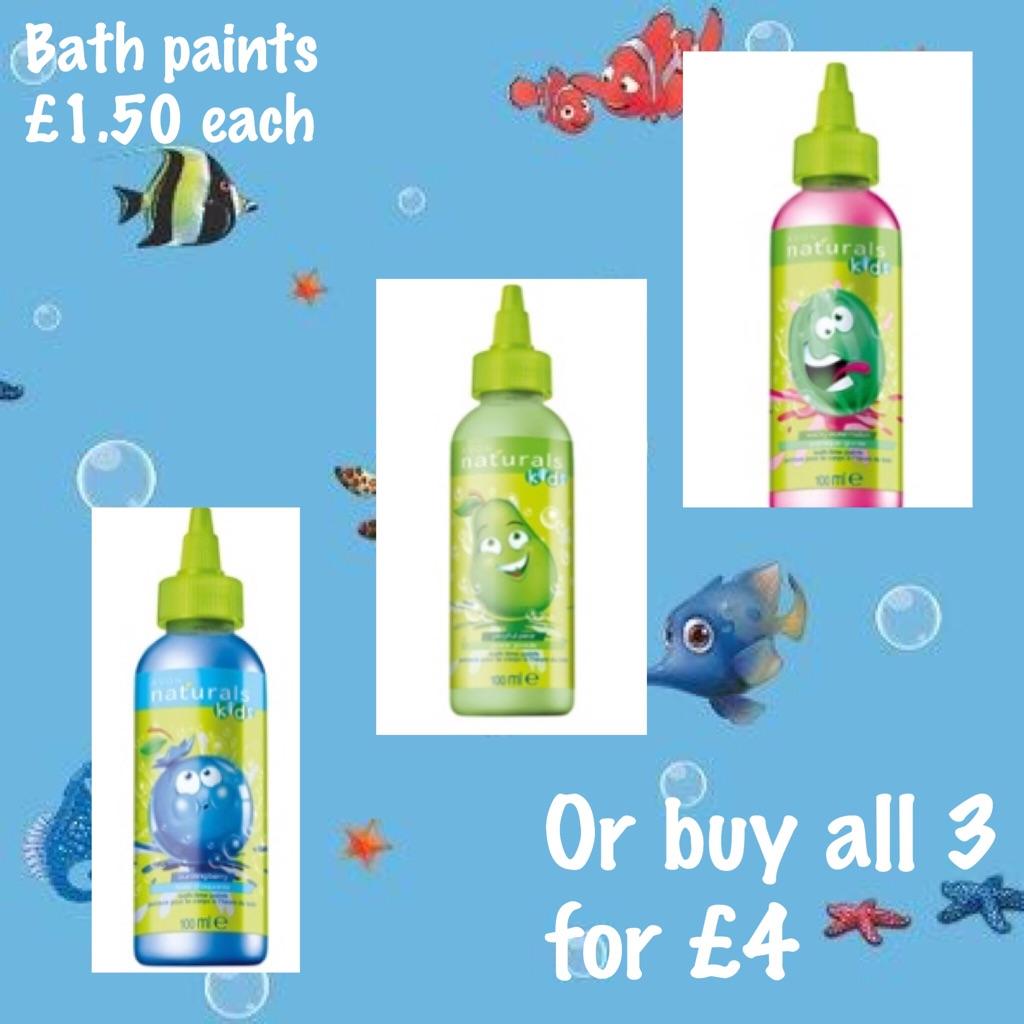 Kids bath paints