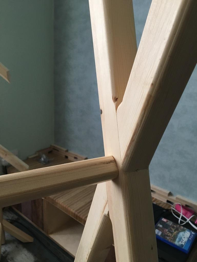 Tipi frame bed