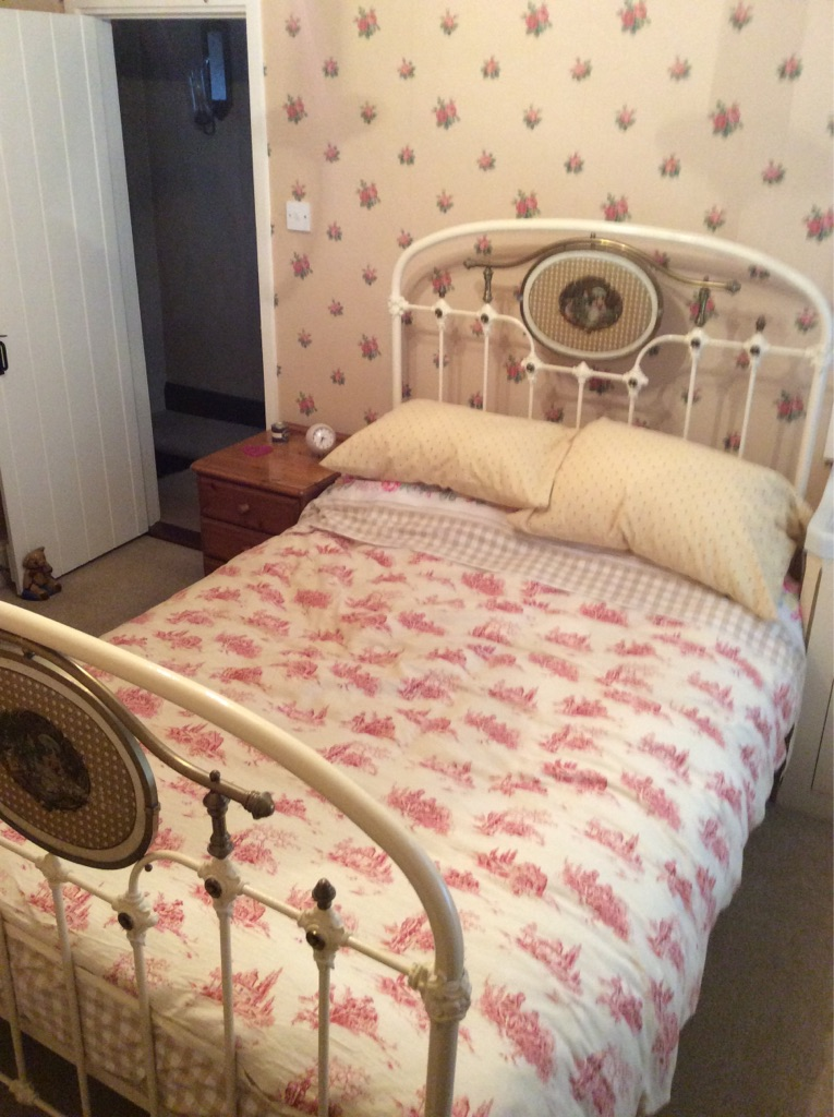 Victorian wrought iron bed