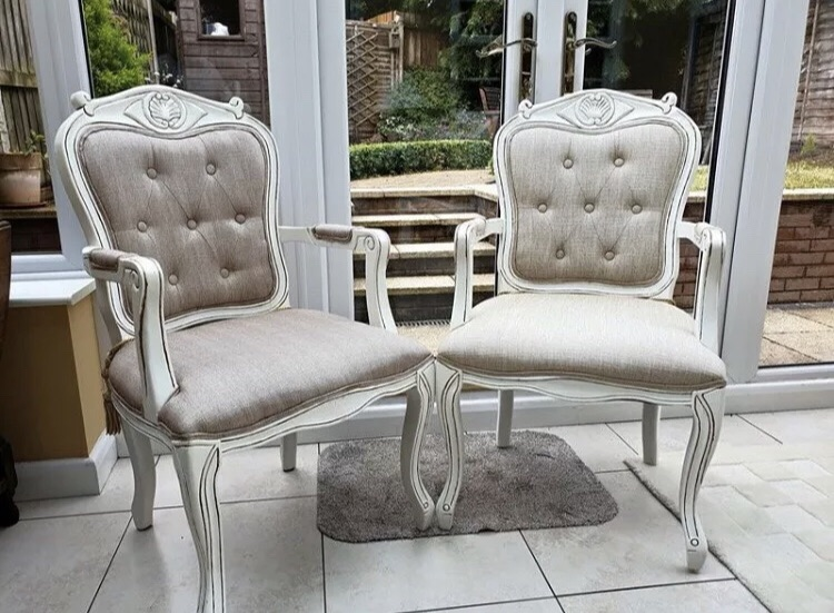 French Louis XV Style Pair Of Chairs