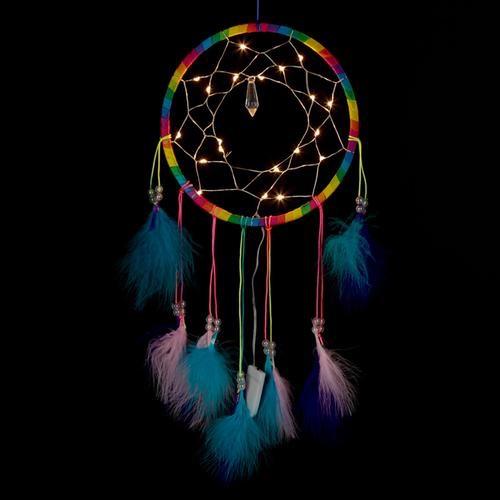 Decorative LED rainbow dreamcatcher