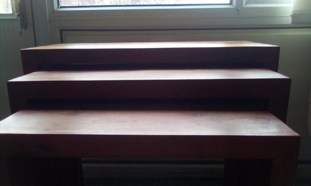 3 tier solid wood side boards