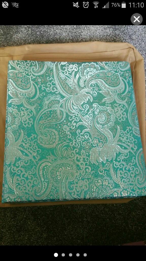 PHOTO ALBUM- Turquoise embroidered photo-album