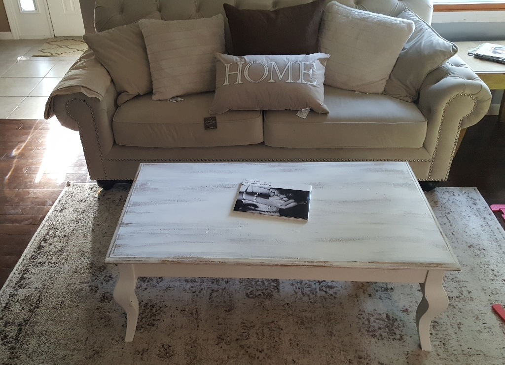 Whitewashed Coffee table
