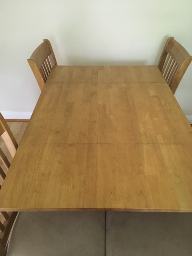 Fold down table and 4 chairs