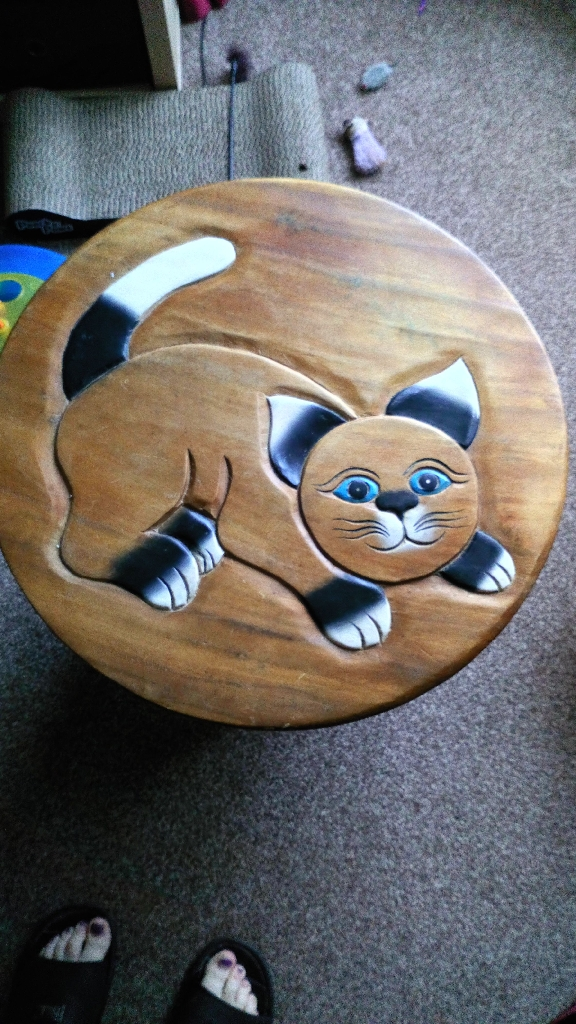 Cat table solid wood