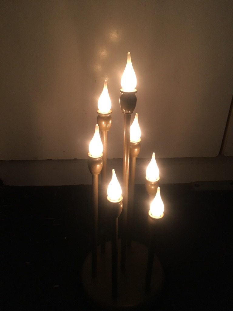 Vintage candle table lamp