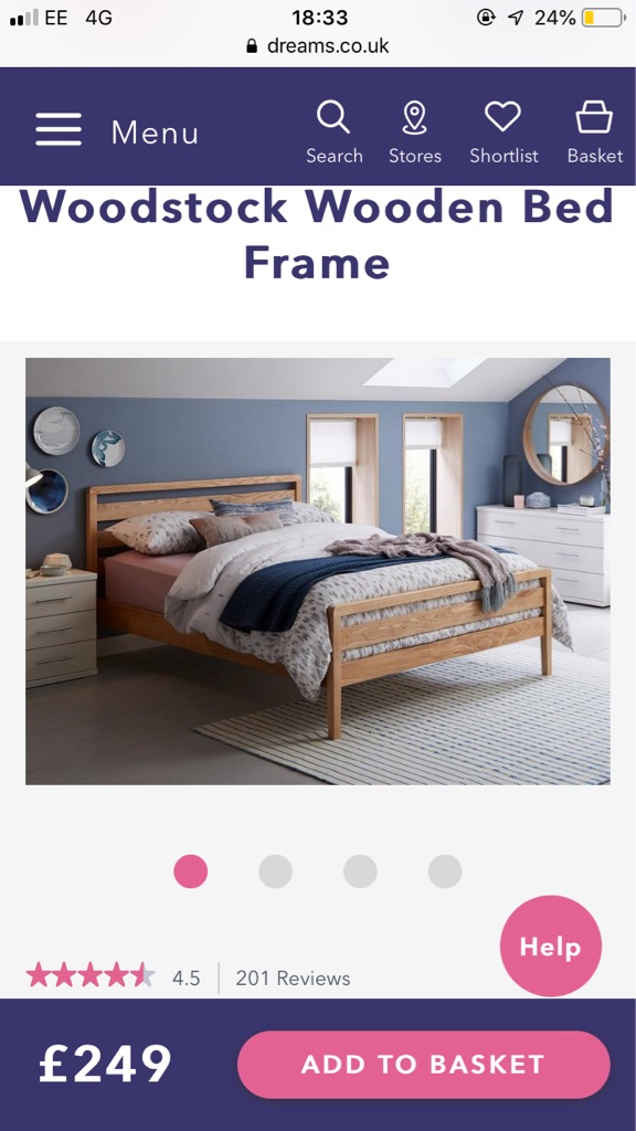 DREAMS king size bed and mattress