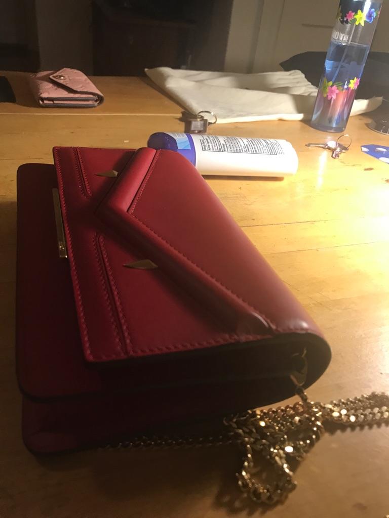 Authentic fendi chain wallet