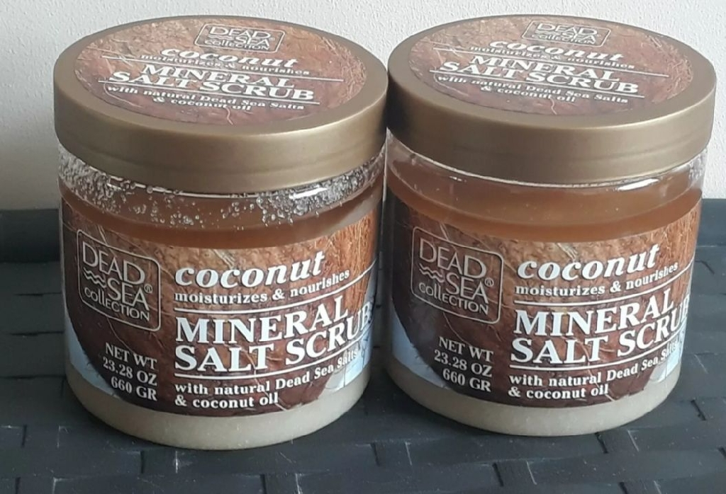 2×  Dead Sea Collection Coconut Oil Mineral Salt Bath Body Scrub   660 g