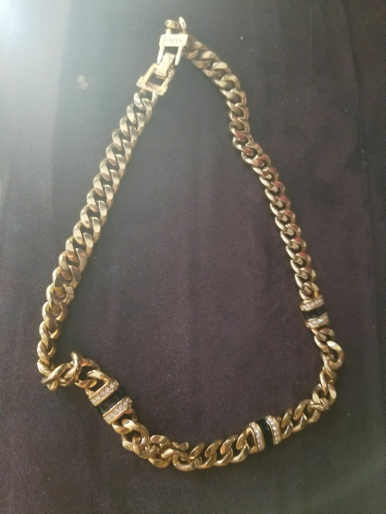 Cuban chain **plated gold**