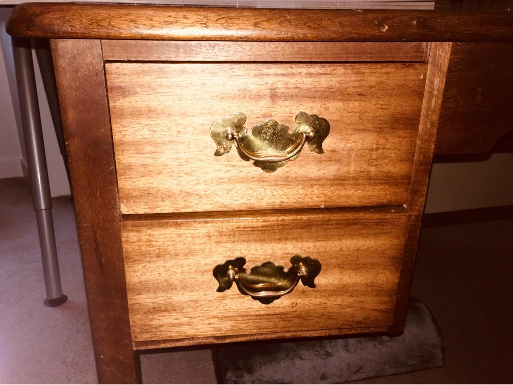 Vintage solid wooden desk