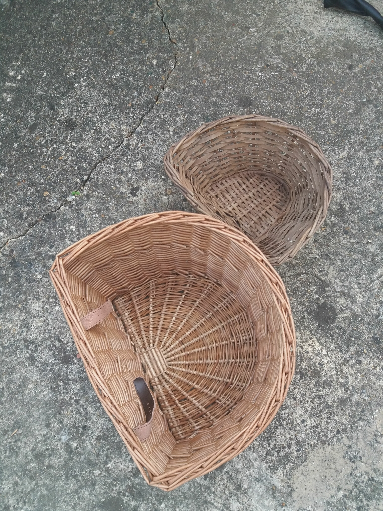 Beautiful bicycle baskets big and small