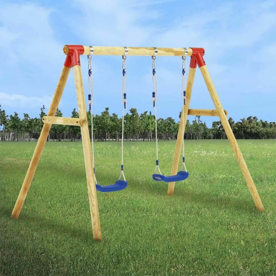 Inspirational Homeware Furniture & Gifts SWING SET 230X130X166CM PINEWOOD  £206.00