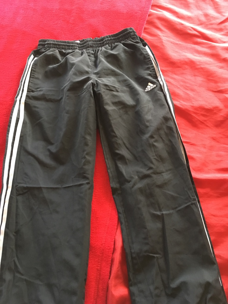 Boys adidas tracksuit bottoms
