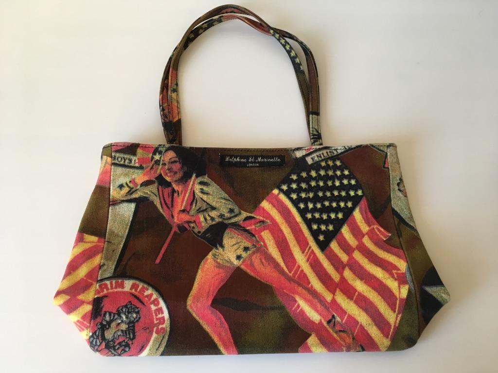 American vintage print bag