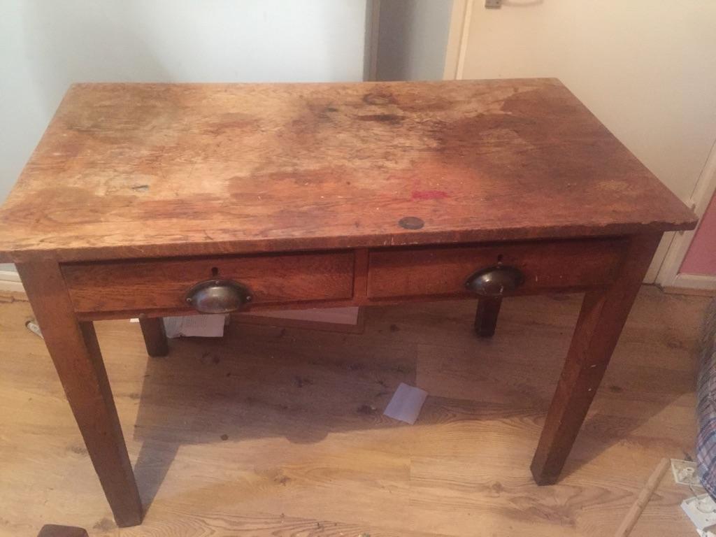 Old Oak School Desk